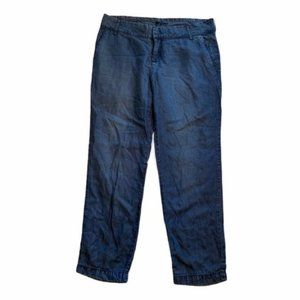Kut From The Kloth Cropped Tapered Chambray Pant